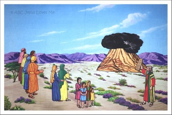 10 Commandments Flannelgraph Bible Story