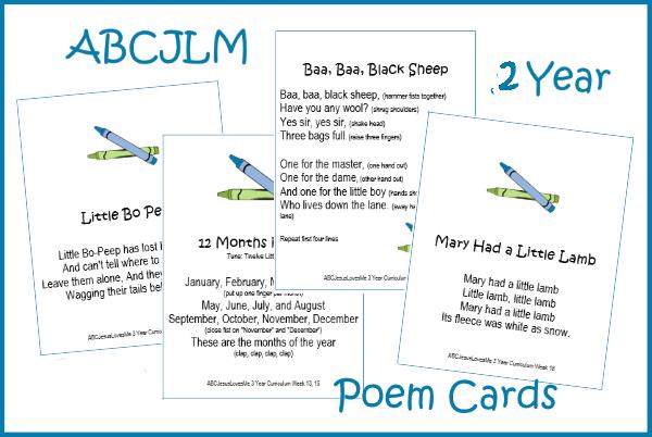 2 Year Poem Cards
