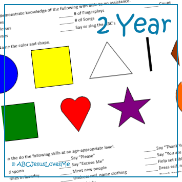 Objective Checklist for 2-Year-Old