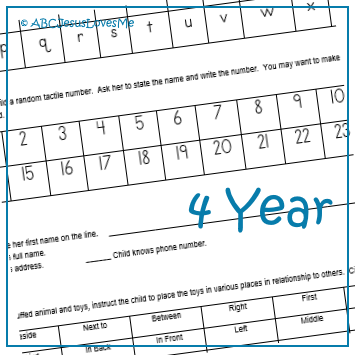 Objective Checklist for 4-Year-Old