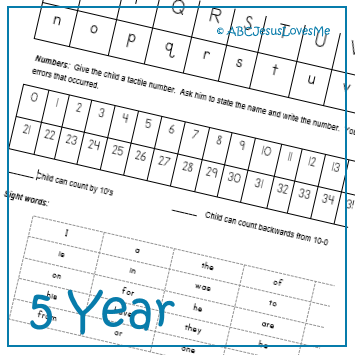 Objective Checklist for 5-Year-Old