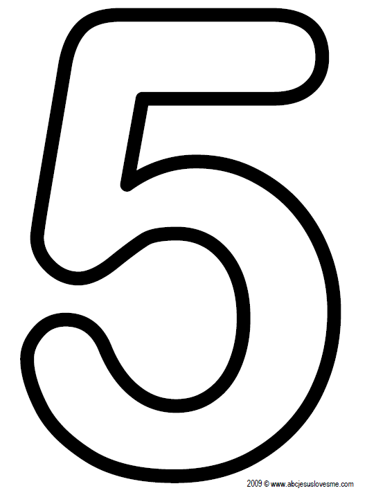 5 Number Poster