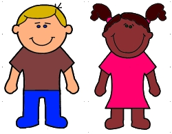 Boy and Girl Coloring Craft