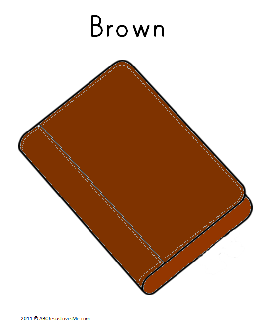 Brown Book Coloring Sheet