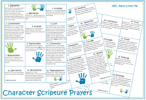 Character Scripture Prayers