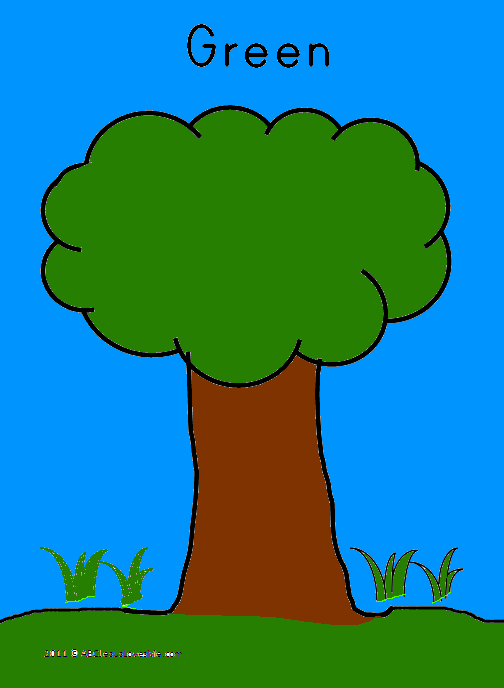 Colored Tree Worksheet