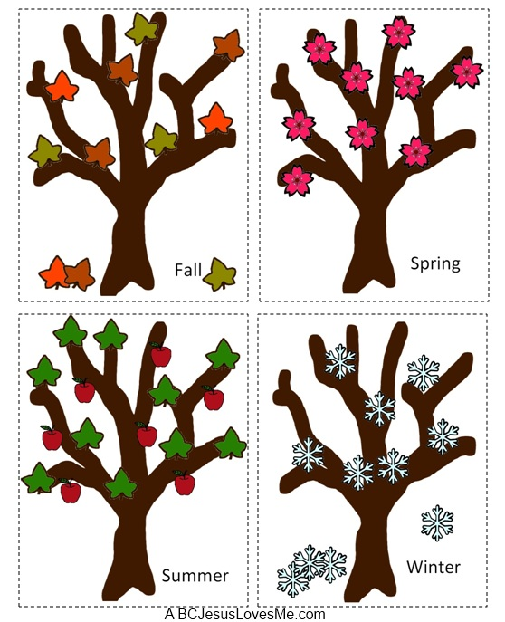 Cut Apart Seasons Printable