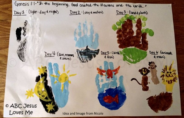 Days Of Creation Crafts For Kids
