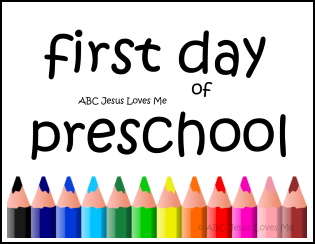 Free First Day of Preschool Poster