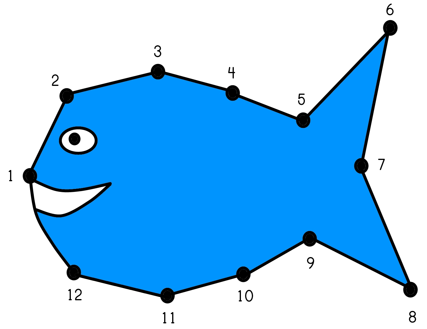 Fish Dot-to-Dot Worksheet