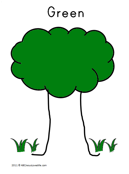 Green Tree Coloring Sheet