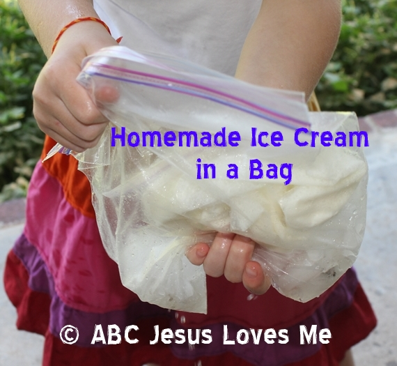 Homemade Icecream Made in a Bag