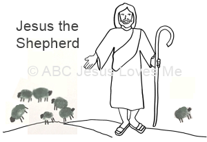 Jesus the Shepherd with His Sheep