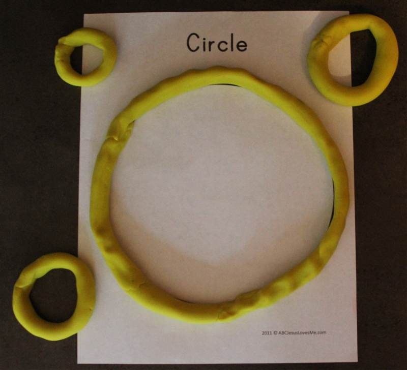 Playdough Circles