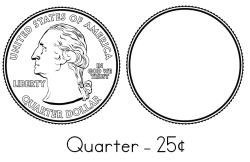 Quarter Coloring Sheet
