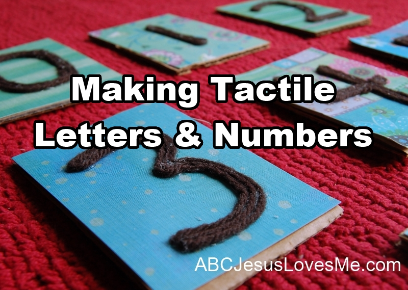 Tactile Letters & Numbers