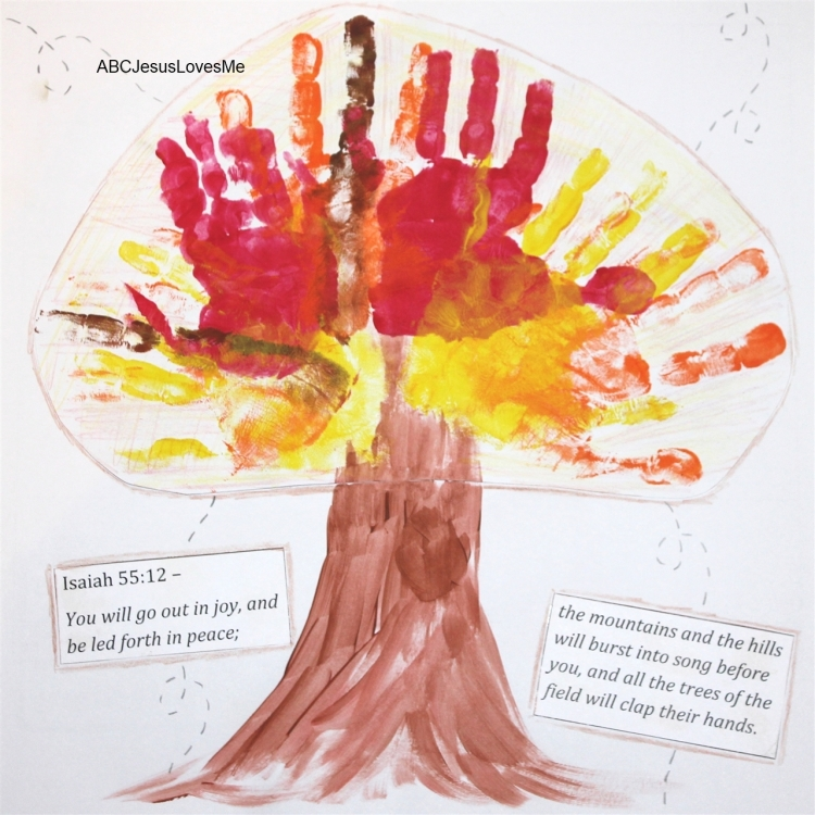 Thanksgiving Tree Handprints