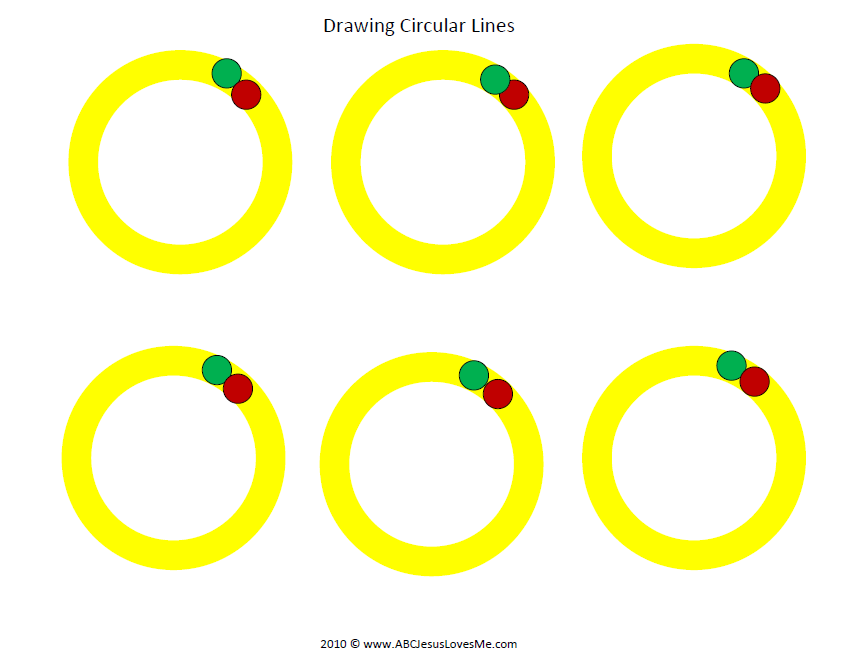 Circular Lines Worksheet