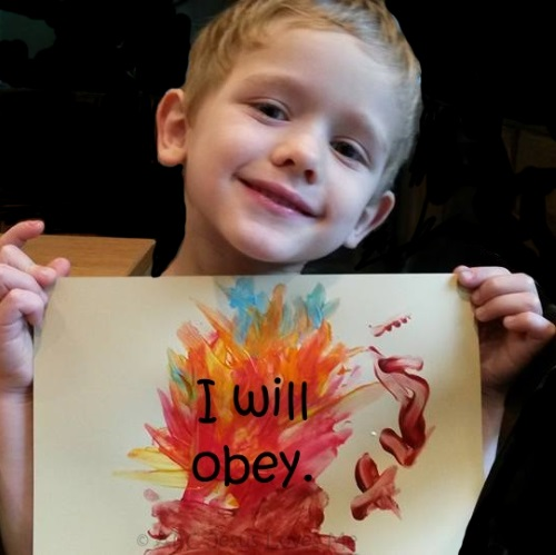 I will Obey! Craft