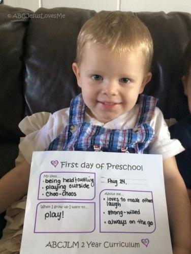 Child ready to begin preschool curriculum.