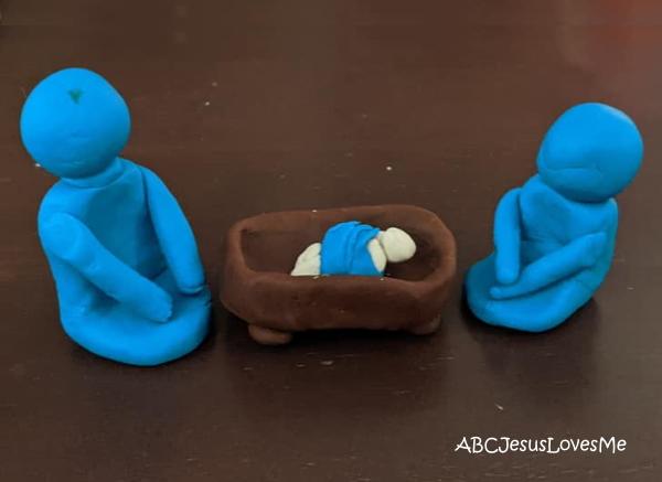 Play Dough Manger Scene