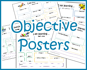 4 Year Curriculum Objective Poster