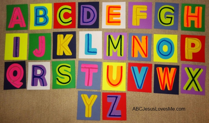 Pipe Cleaner Tactile Letters