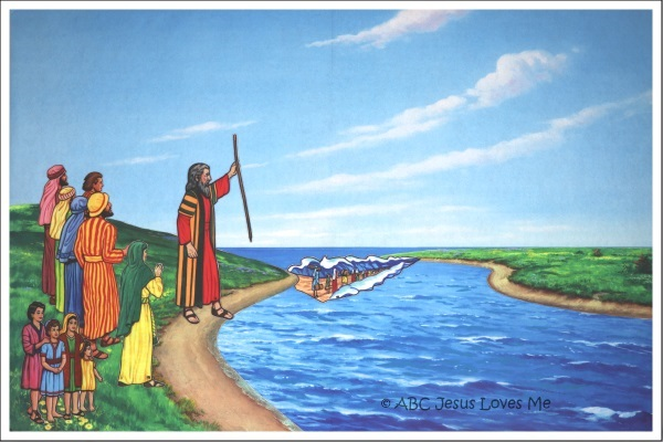 Red Sea Flannelgraph Bible Story