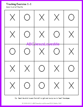 Visual Perception Worksheet
