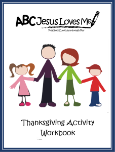 Thanksgiving Activity Workbook